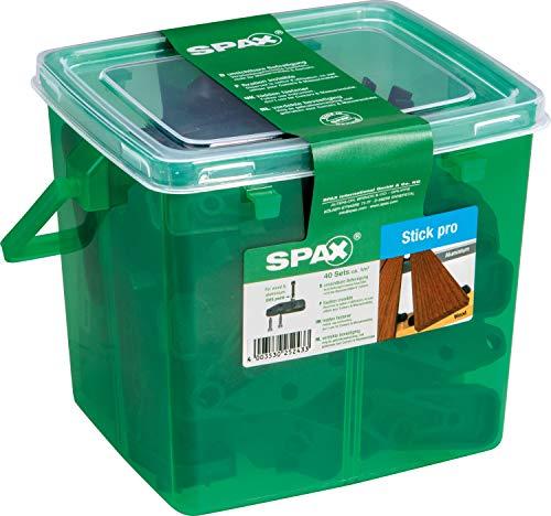 SPAX Stick pro, unsichtbare Terrassenbefestigung auf Holz und Aluminium, 40 Sticks, inkl. Schrauben für ca. 1m² Terrasse, schwarz – 5009422556609